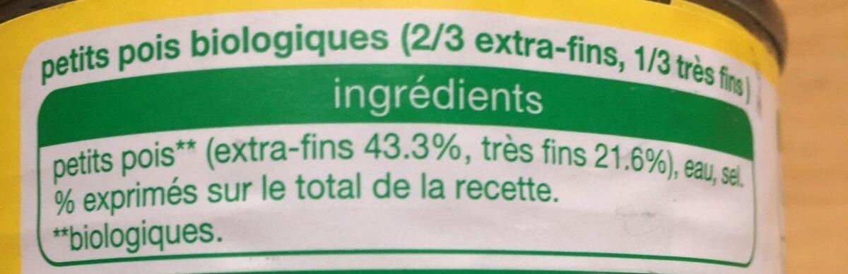 Petits pois Bio - Ingrédients - fr
