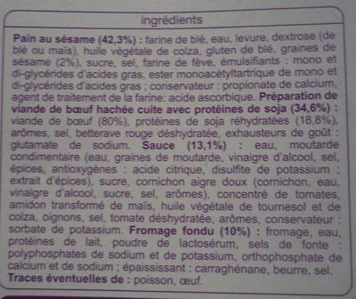 Cheeseburgers - Ingredients