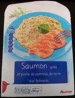 Saumon grillé et purée de pommes de terre aux épinards - Prodotto - fr