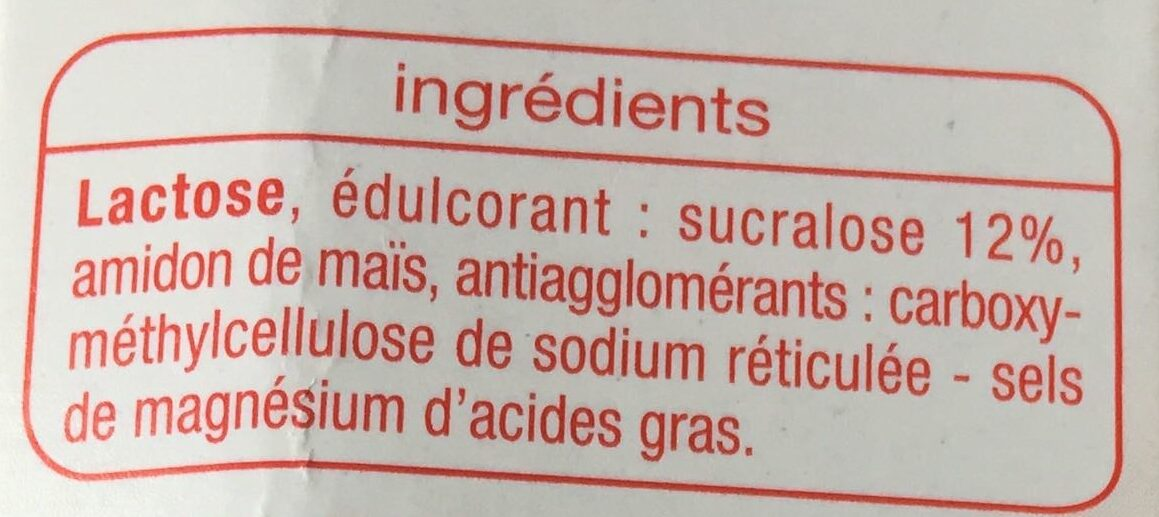Sucralose - Ingrédients
