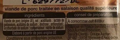 Allumettes de Lardon Nature - Ingrediënten