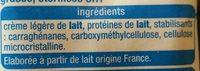 Crème légère fluide 15% - Ingredienti - fr