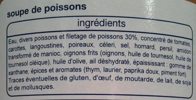 Soupe de Poissons - Ingrédients