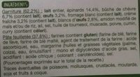 Tarte épinards chèvre - Ingredients - fr