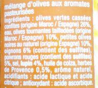 Olives cocktail - Ingrédients - fr