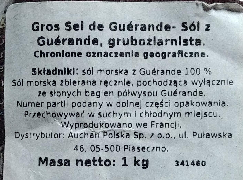 Gros Sel de Guérande - Składniki - pl