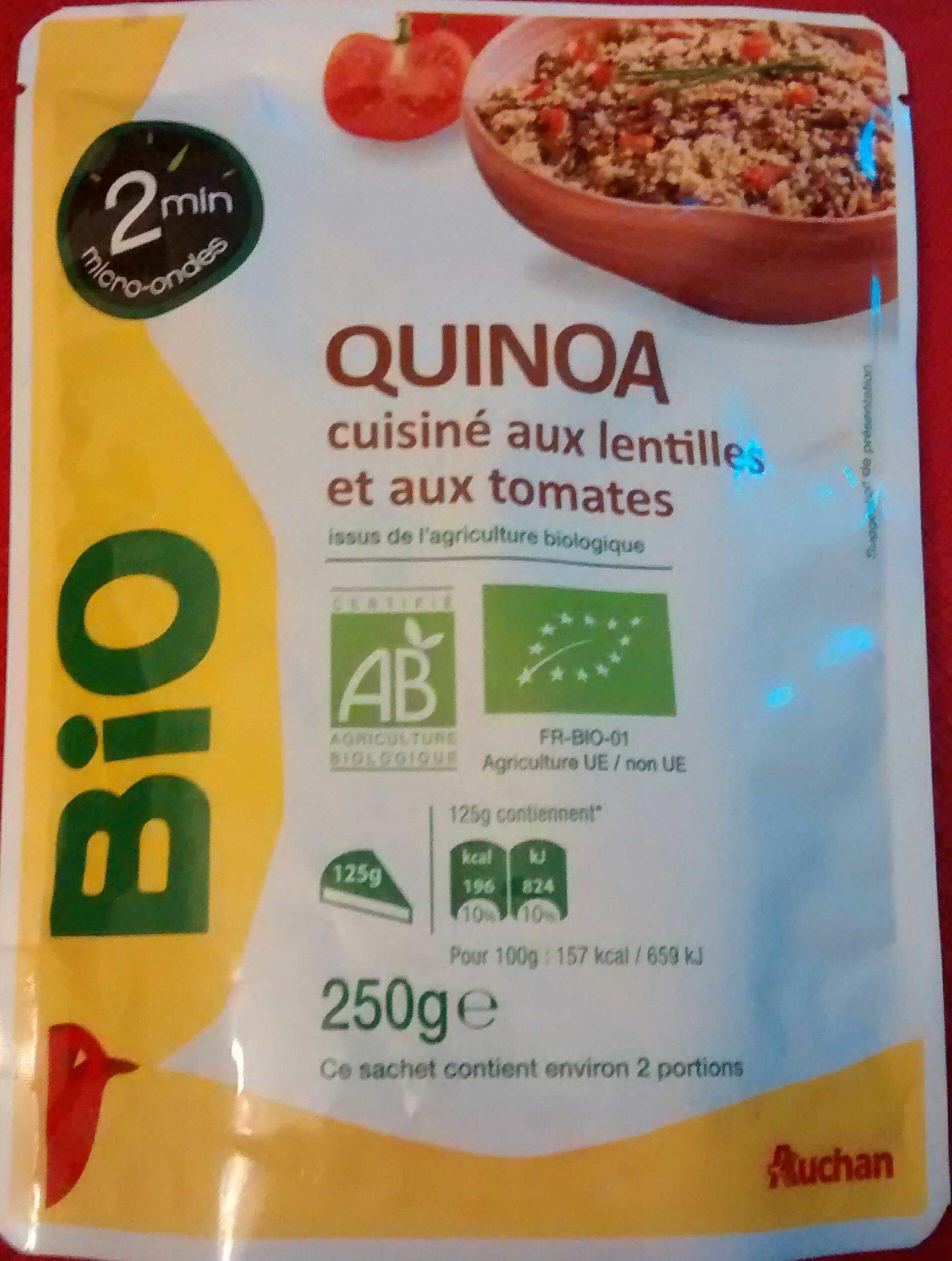 Quinoa cuisiné aux lentilles et aux tomates - Produit - fr