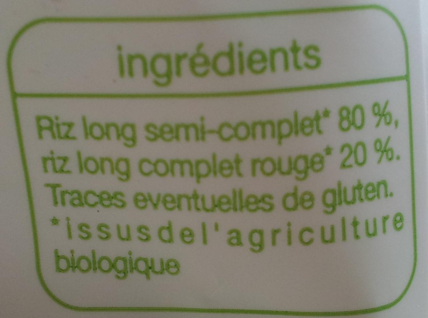 Duo de riz de Camargue - Ingrediënten