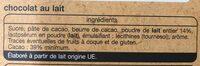 Chocolat Lait Dessert - Ingredients - fr