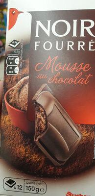 Auchan Chocolat Noir Fourré Mousse Chocolat Tablette - Product - fr
