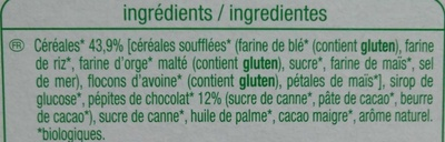 Barres de céréales Chocolat - Ingredients - fr