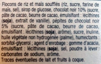 Barres de céréales - Ingrediënten - fr