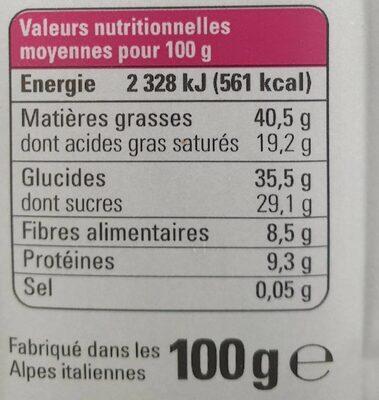 Barres de céréales - Voedingswaarden - fr