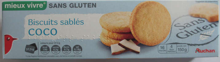 Biscuits sablés coco - Product