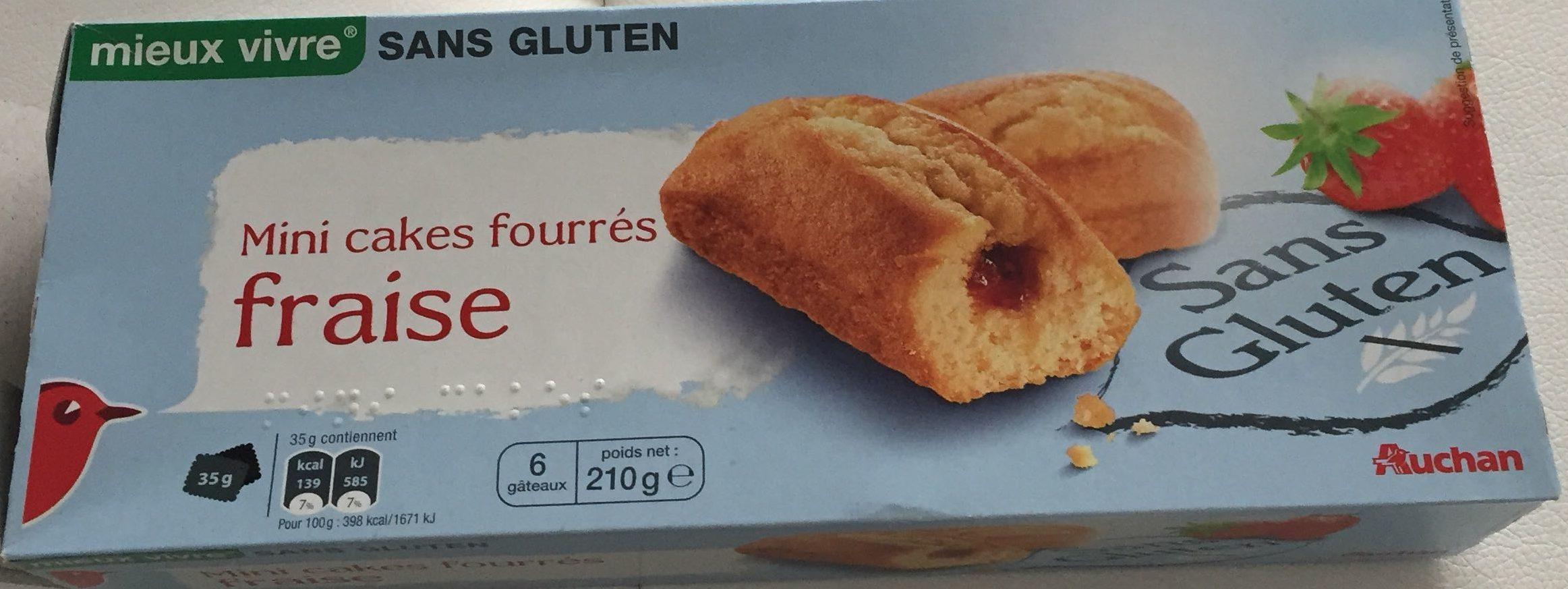 Mini Cakes Fourrés Fraise - Produit - fr