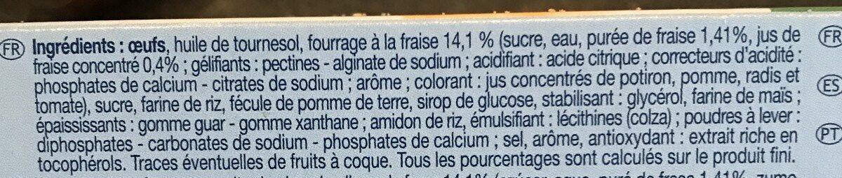 Mini Cakes Fourrés Fraise - Ingrédients - fr