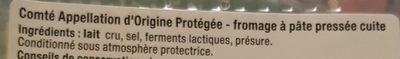 Tranchettes Comté affiné  4 mois - Ingrédients - fr