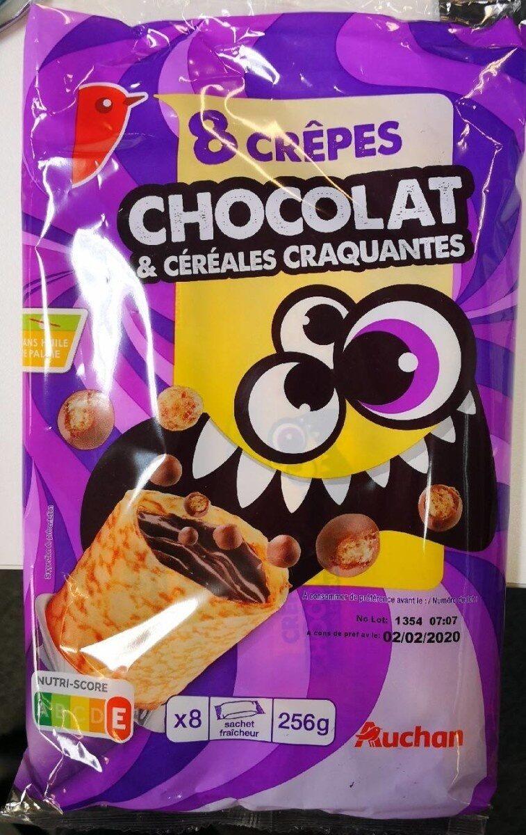 8 crêpes chocolat et céréales craquantes - Produit - fr