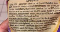 8 crêpes chocolat et céréales craquantes - Ingrédients - fr