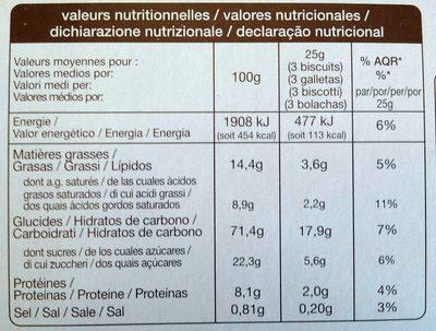 Petit beurre Pocket - Nutrition facts