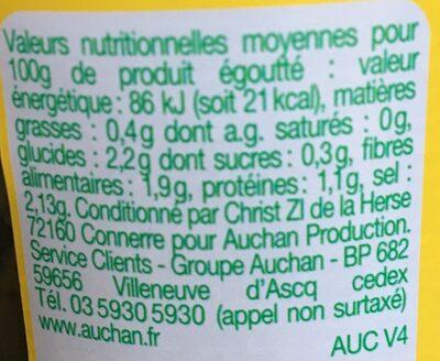 Cornichons au vinaigre - Voedingswaarden - fr