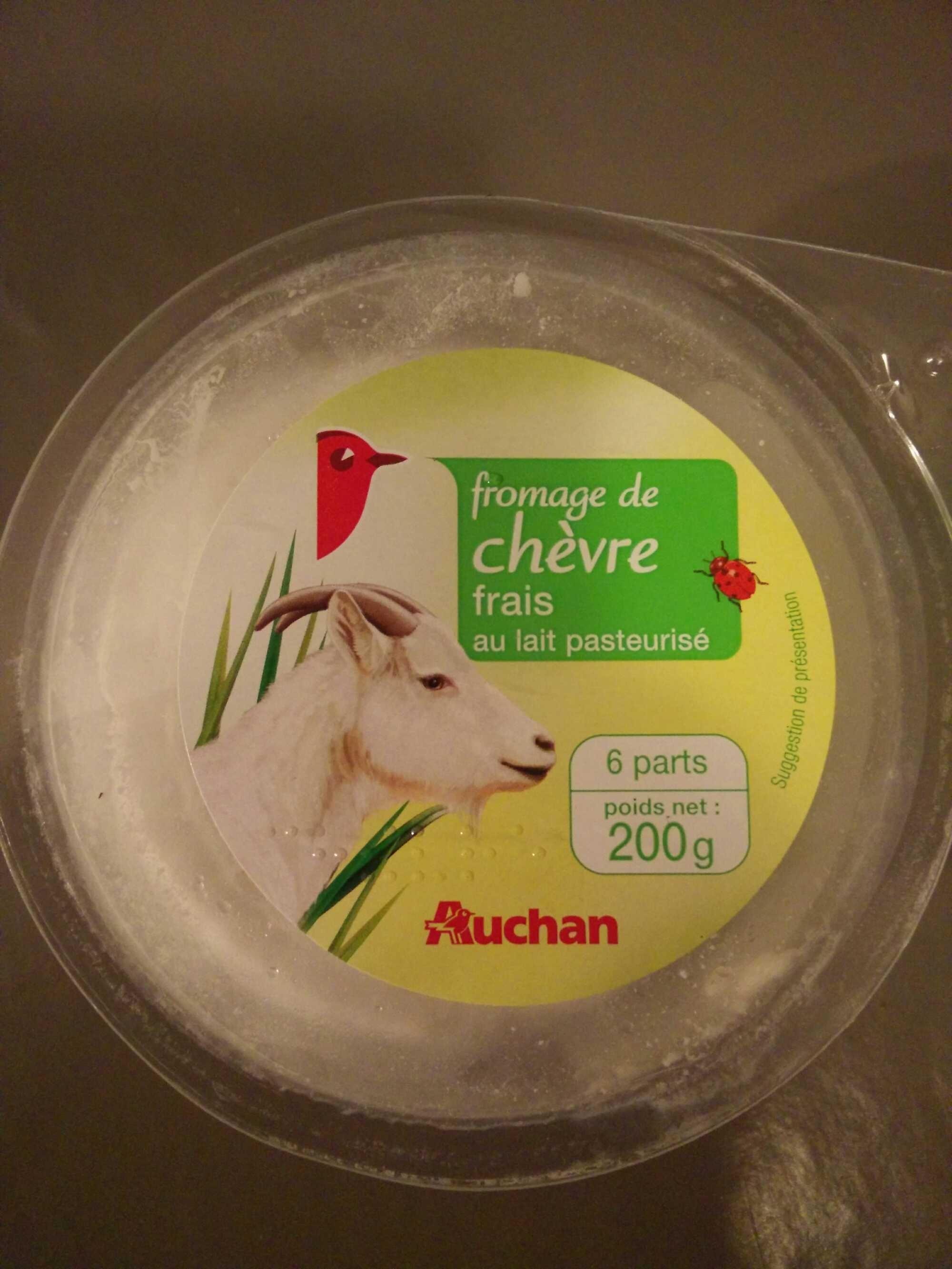 Fromage de ch vre frais au lait pasteuris auchan 200 g - Quantite de fromage par personne ...