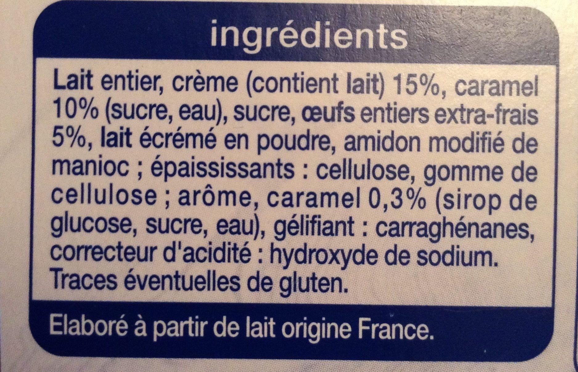Petit pot de crème au caramel - Ingrédients - fr