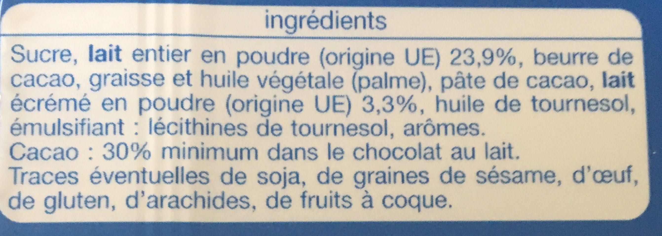 Coeur de Lait - Ingrédients - fr