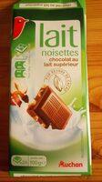 Chocolat lait noisettes entières - Produit
