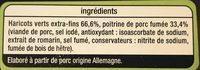 Fagots Haricots Verts - Ingrédients