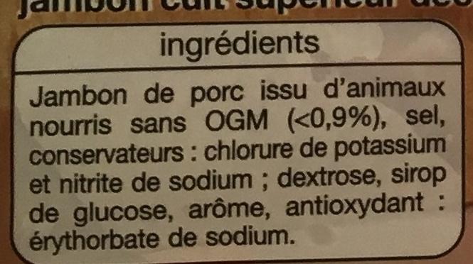Jambon de Paris (-25% de sel) - Ingrédients