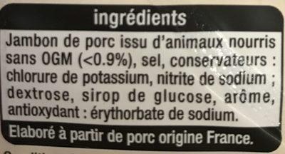 Jambon de Paris -25% de Sel - Ingredients