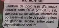 Jambon supérieur (-25% de sel) - Ingredients - fr