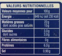 mon moment fromager - Informations nutritionnelles - fr