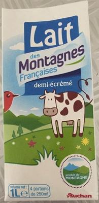 Lait des Montagnes Françaises demi-écrémé - Produit