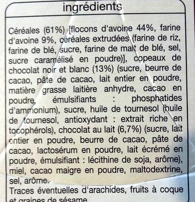 Crousty Premium 3 Chocolats - Ingrediënten