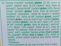 Muesli 7 fruits croustillant - Ingredients