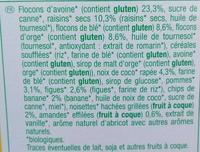 Muesli 7 fruits croustillant - Ingredientes - fr