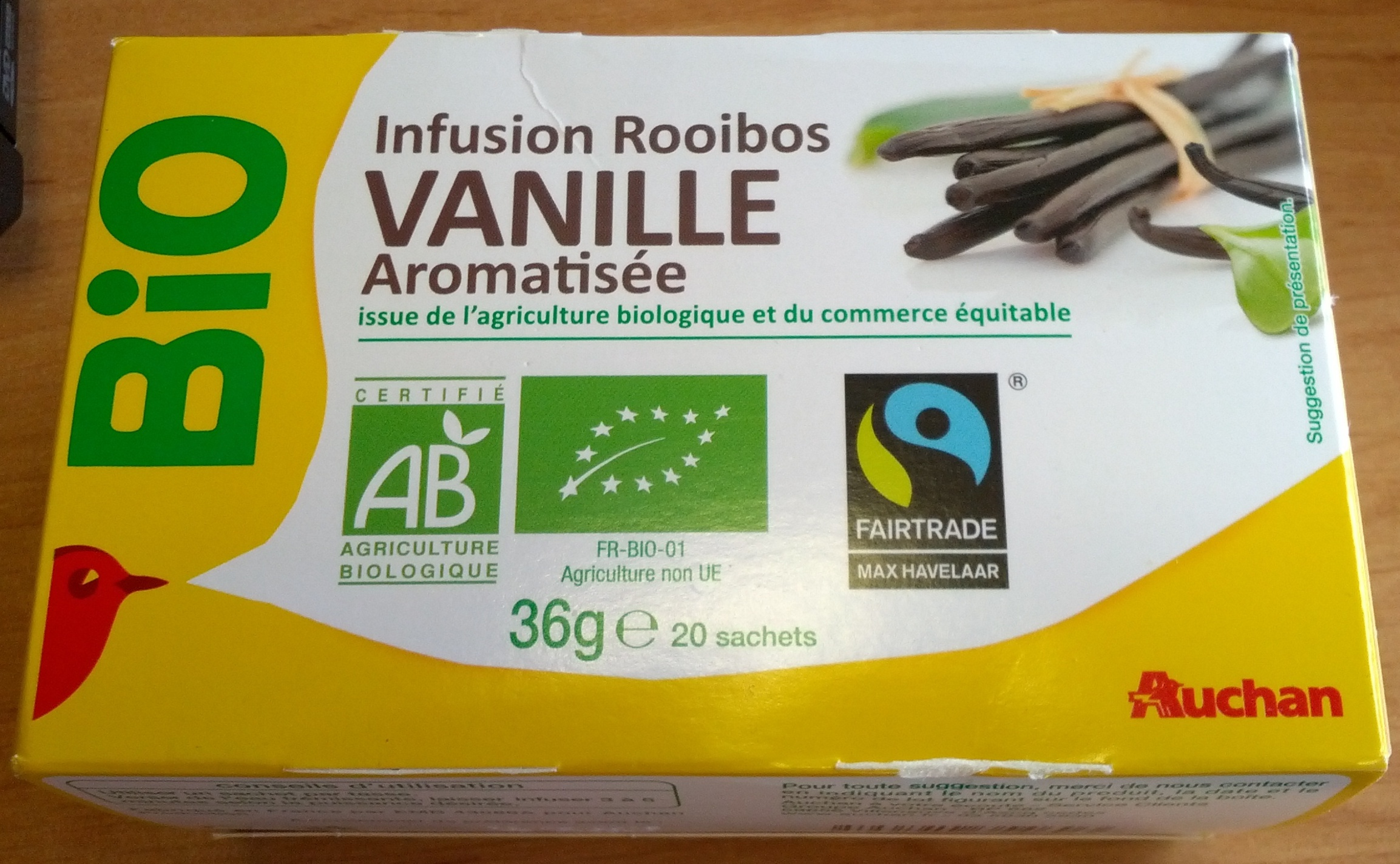 infusion rooibos vanille - Auchan - 20 sachets