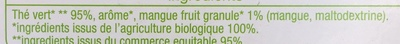 Thé vert d'Inde mangue - Ingrediënten - fr