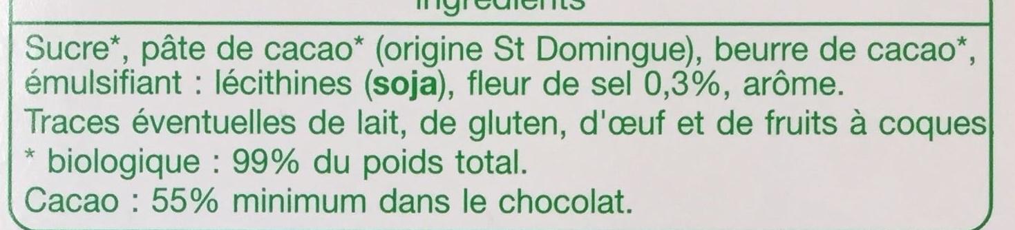 Chocolat dégustation Noir Fleur de Sel - Ingrediënten