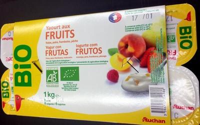 Yaourt aux fruits (fraise, pêche, poire, framboise) - Produto