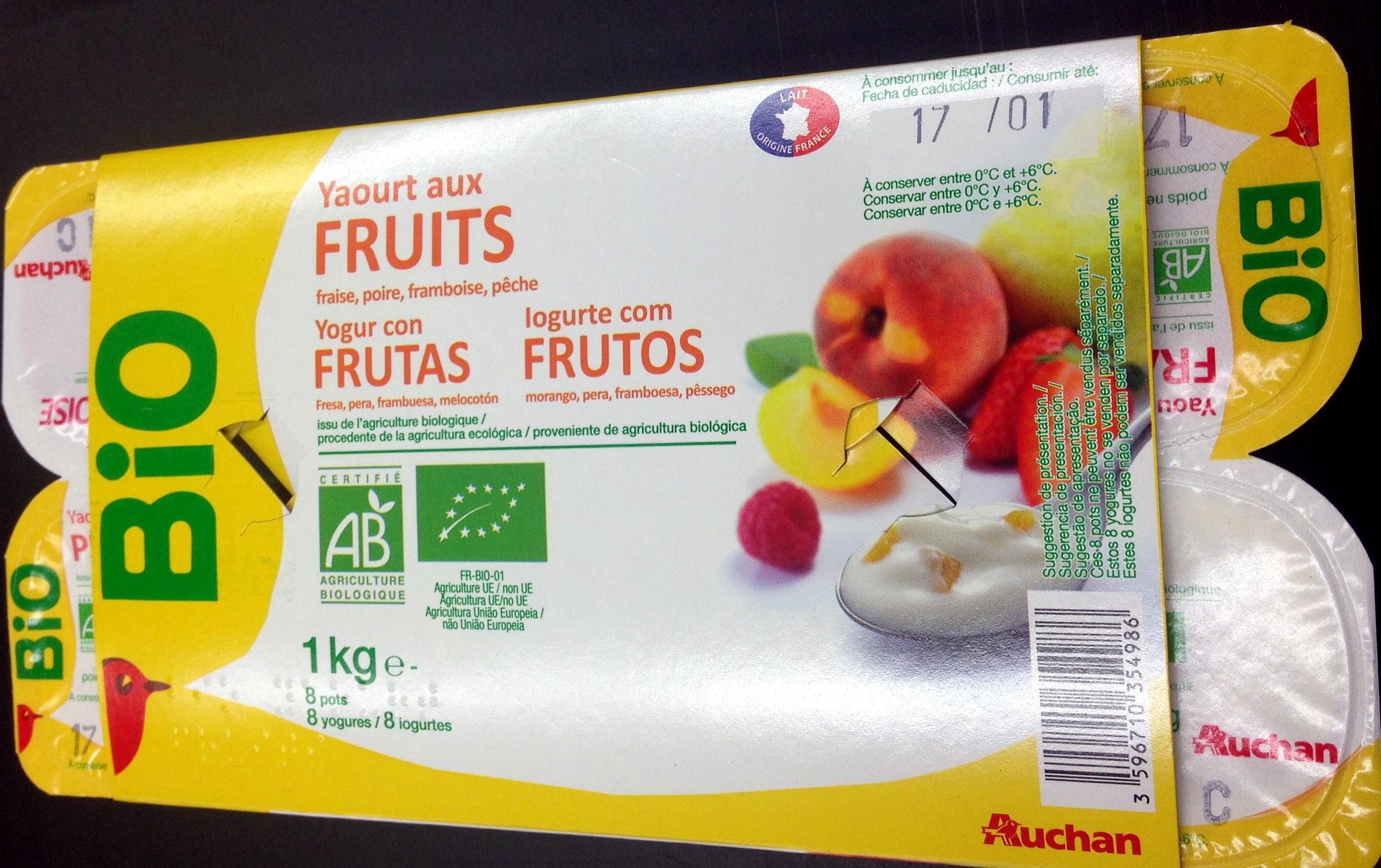 Yaourt aux fruits (fraise, pêche, poire, framboise) - Produto - fr