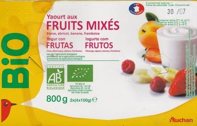 Yaourt aux Fruits mixés (fraise, abricot, banane, framboise) - Producto