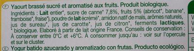 Yaourt aux Fruits mixés - Ingredientes - fr