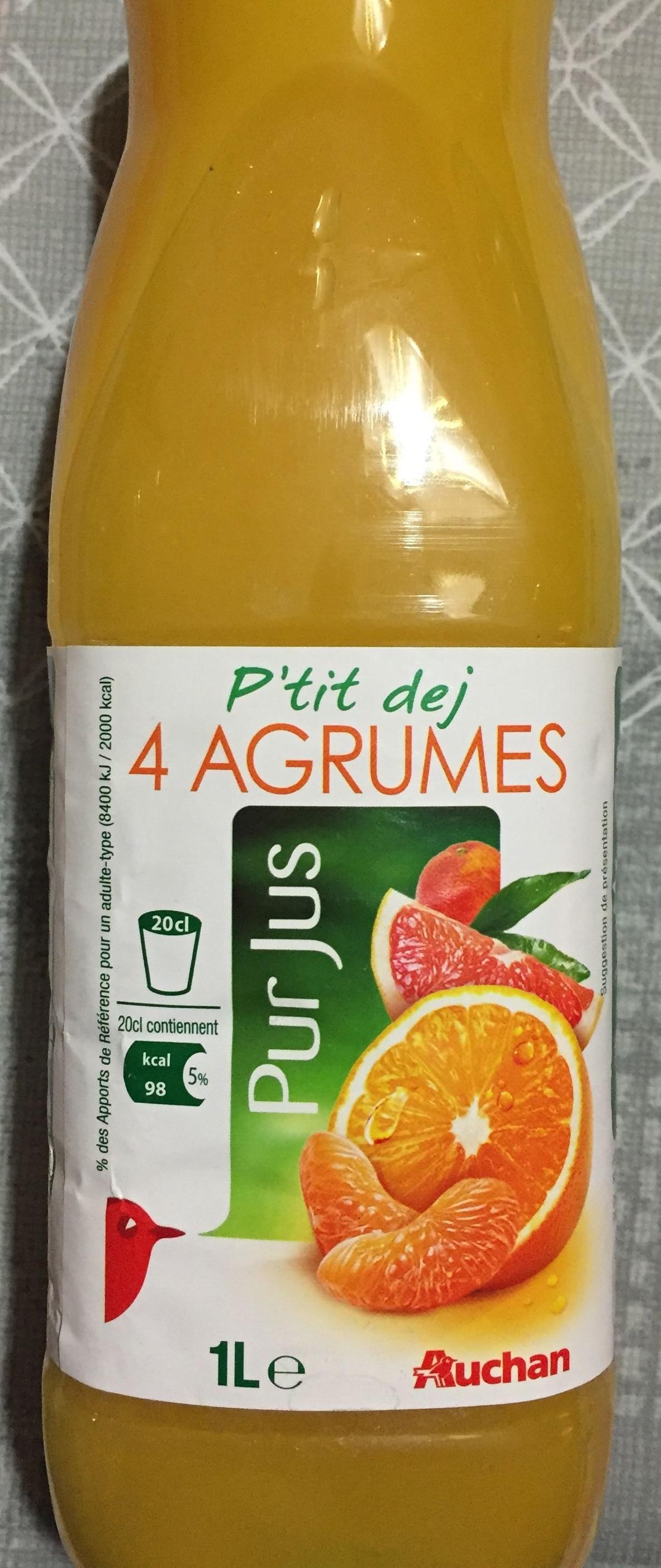 Pur jus 4 agrumes Auchan 1 l