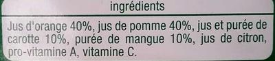 vitaminé orange pomme mangue carotte citron - Ingrediënten