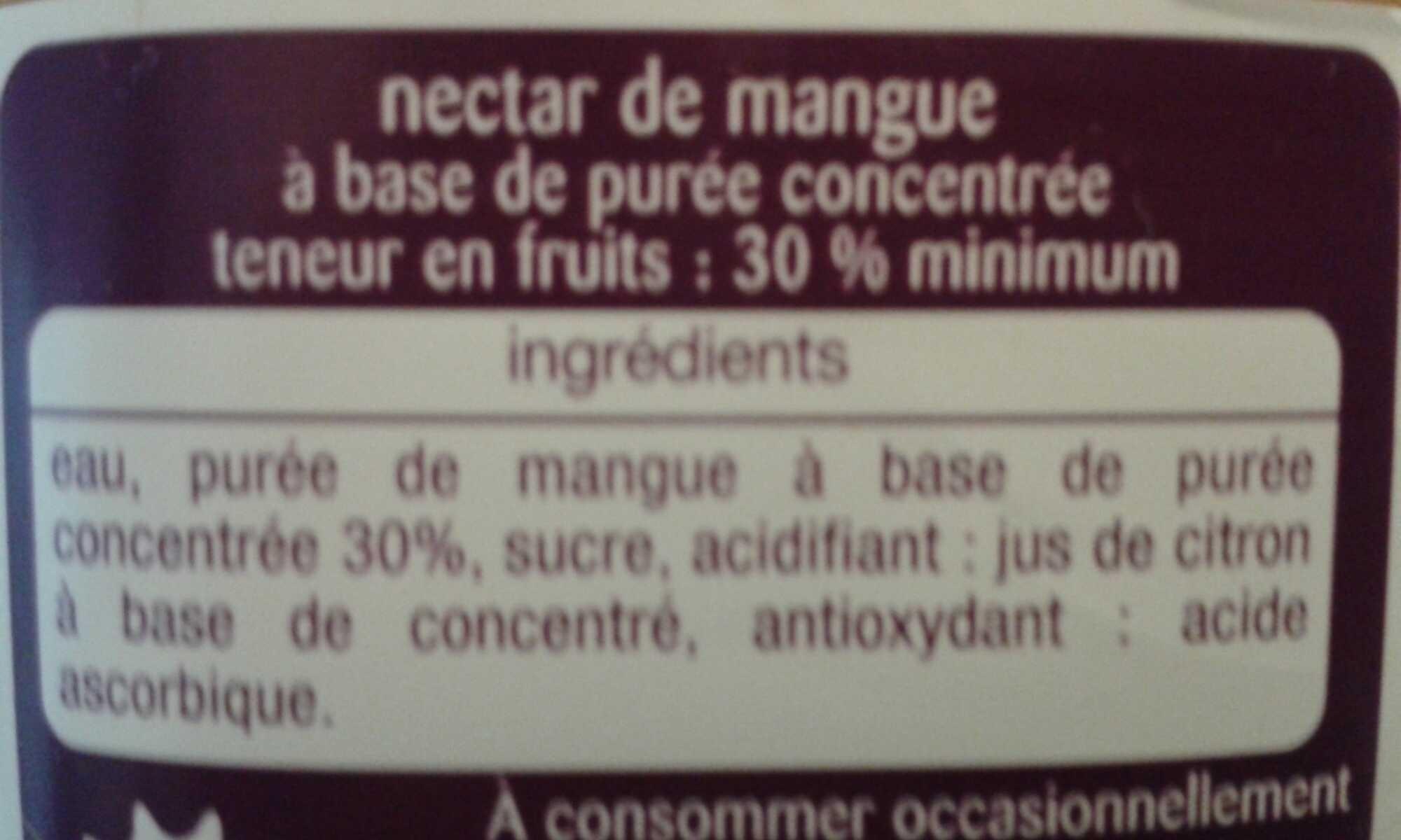 Nectar Gourmand Mangue - Ingredients - fr