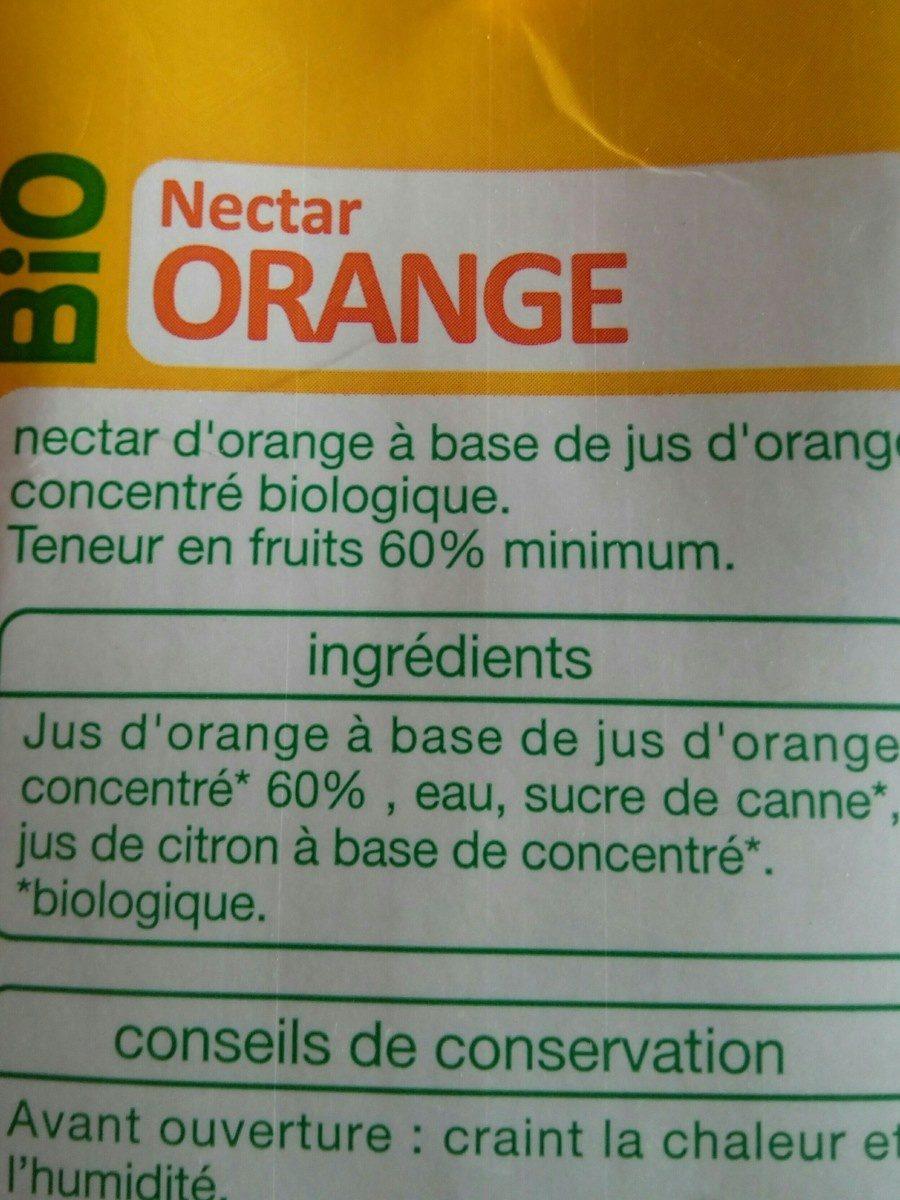 Nectar orange bio - Ingrédients - fr