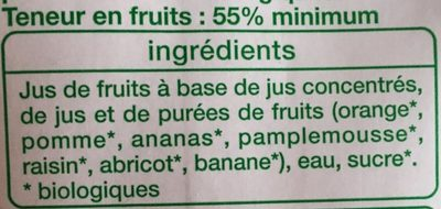 Nectar multi-fruit - Ingrédients - fr